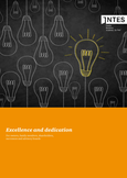"Titelbild der INTES Image Broschüre ""Excellence and Dedication"" in englischer Sprache"